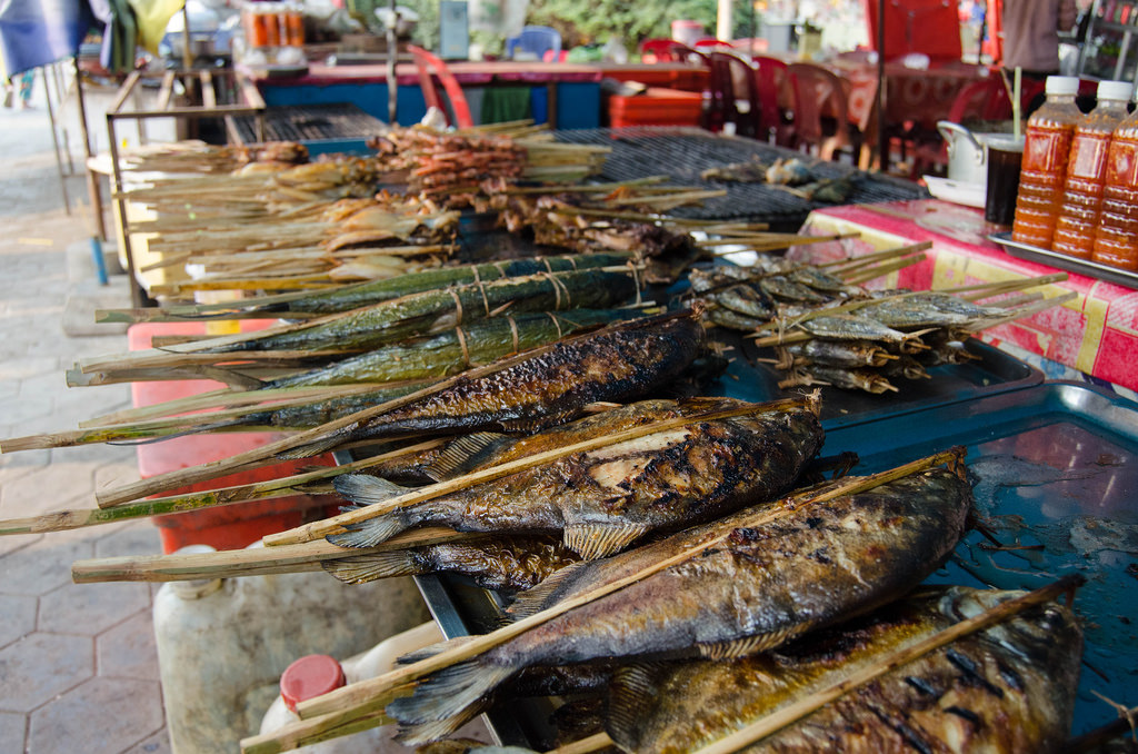 Grilled fish at the crab market
