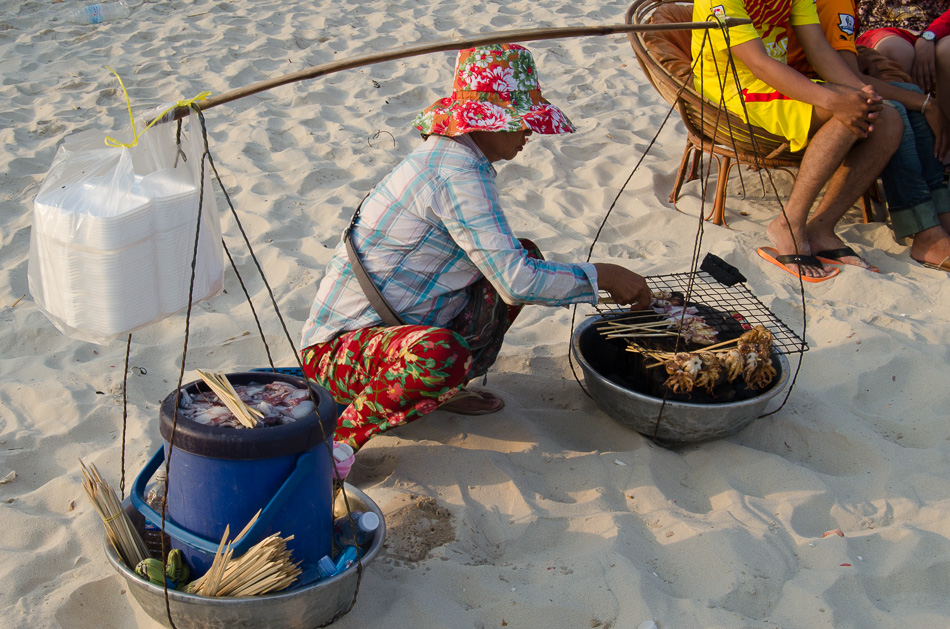 Sihanoukville beach vendor