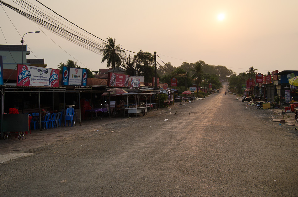 Road lined with restaurants
