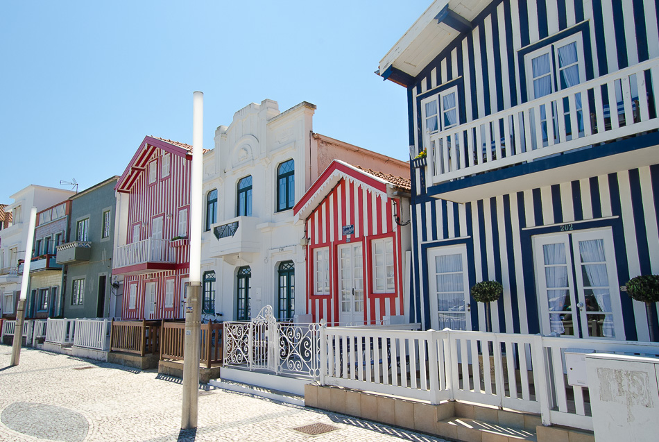 Striped houses of Costa Nova Aveiro