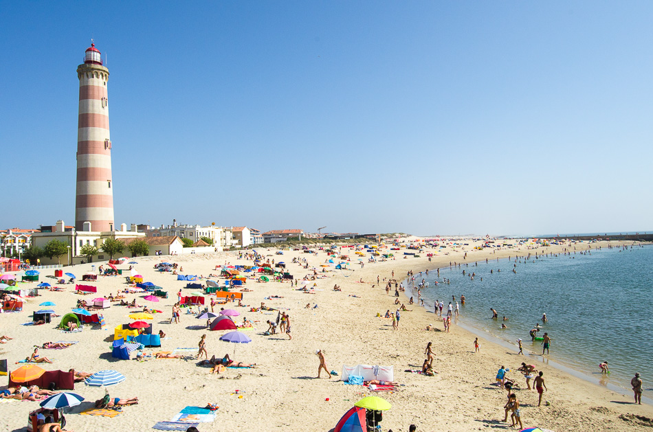 Barra beach in Aveiro
