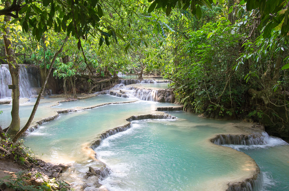 Kuang Si falls natural pools Luang Prabang