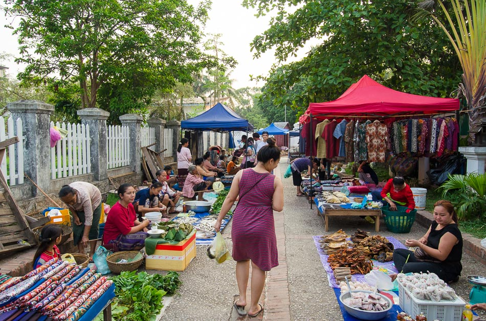 Morning market in Luang Prabang
