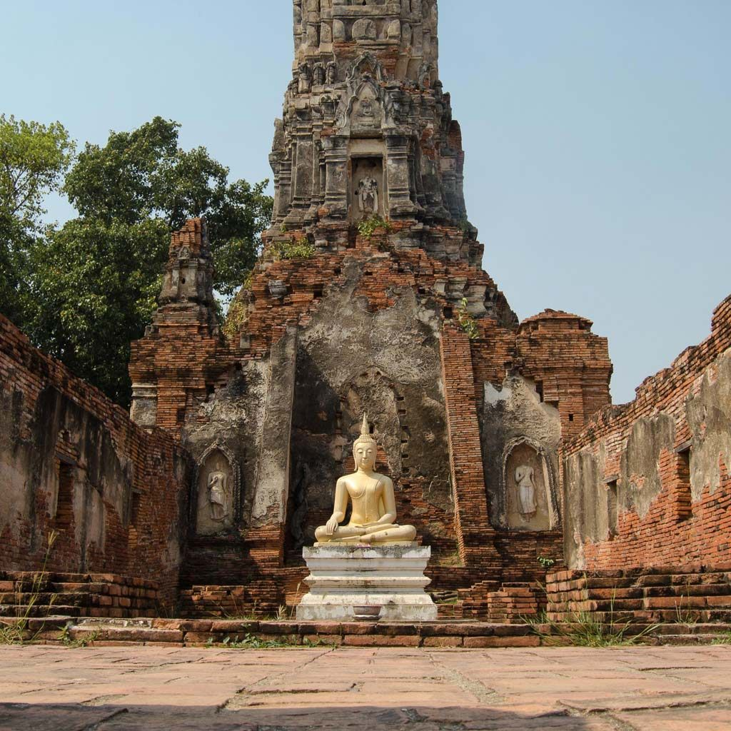 Golden Buddha in Ayutthaya