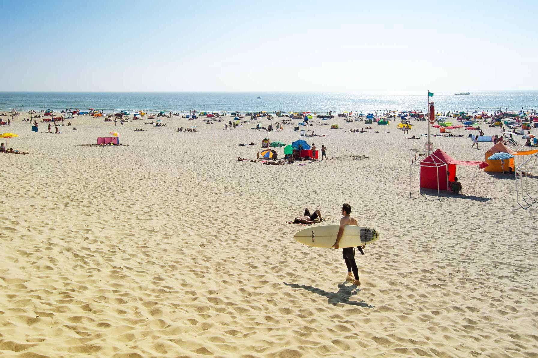Barra beach in Aveiro