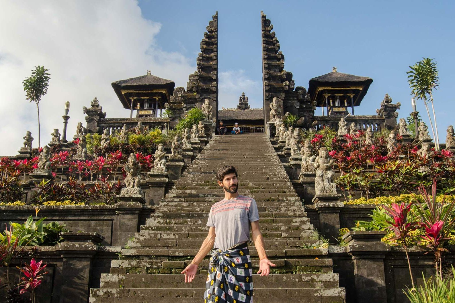Nuno being a good tourist in Bali.