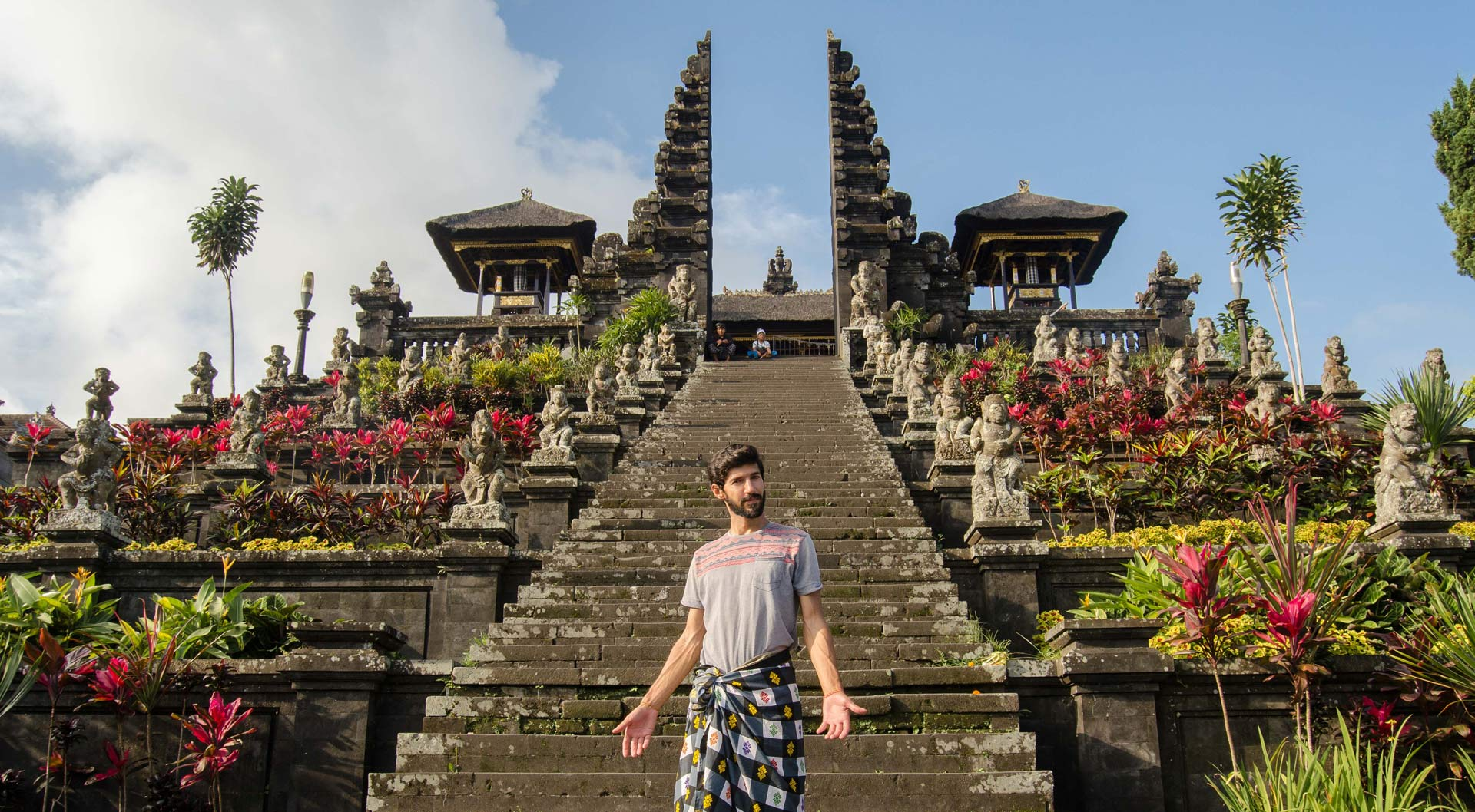 Nuno being a good tourist in Bali.