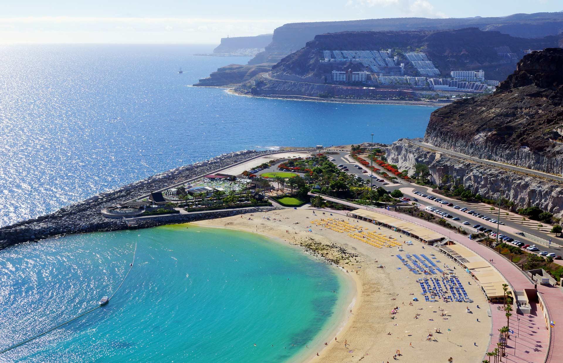 Beach in south Gran Canaria