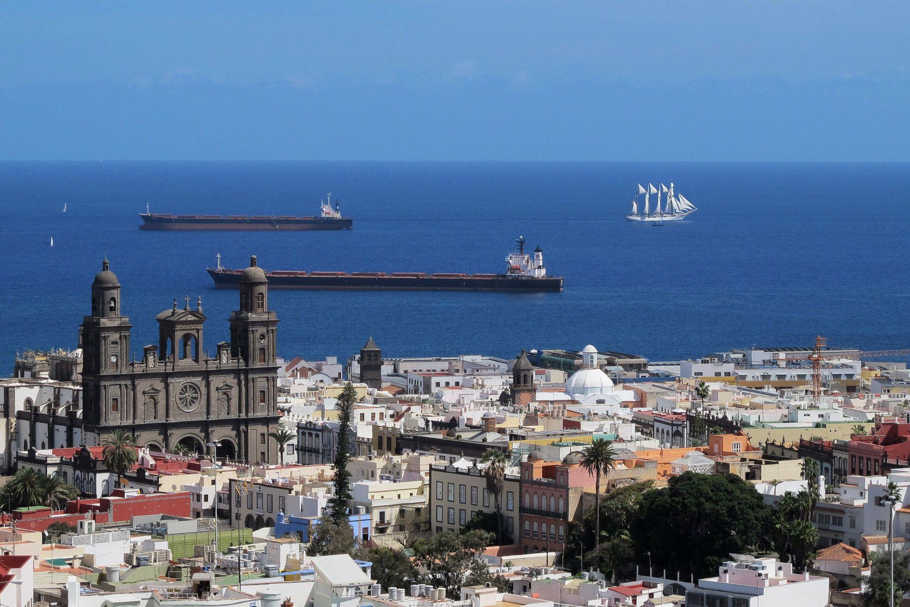 Las Palmas cityscape Gran Canaria Island