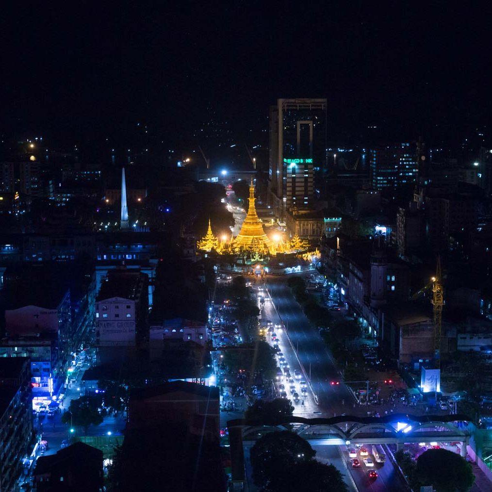 Myanmar at night