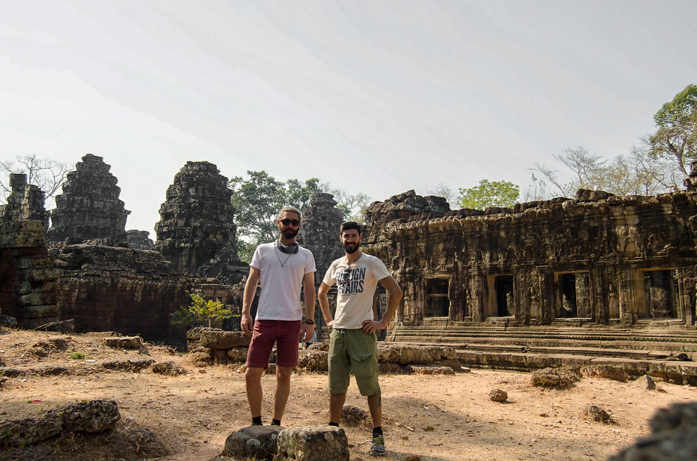 Nuno and Mario at Angkor