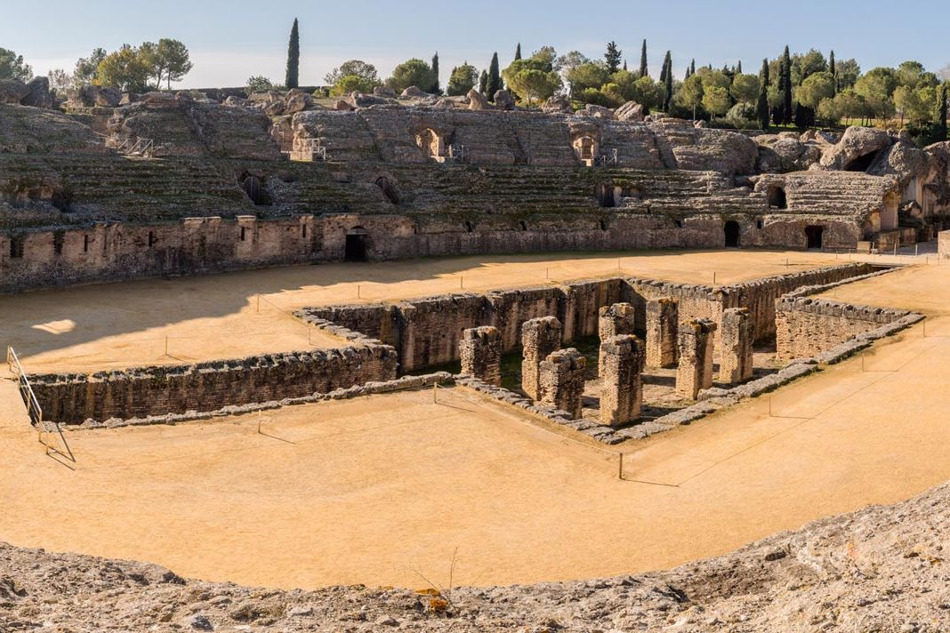 Archaeological Site of Italica in Seville Spain