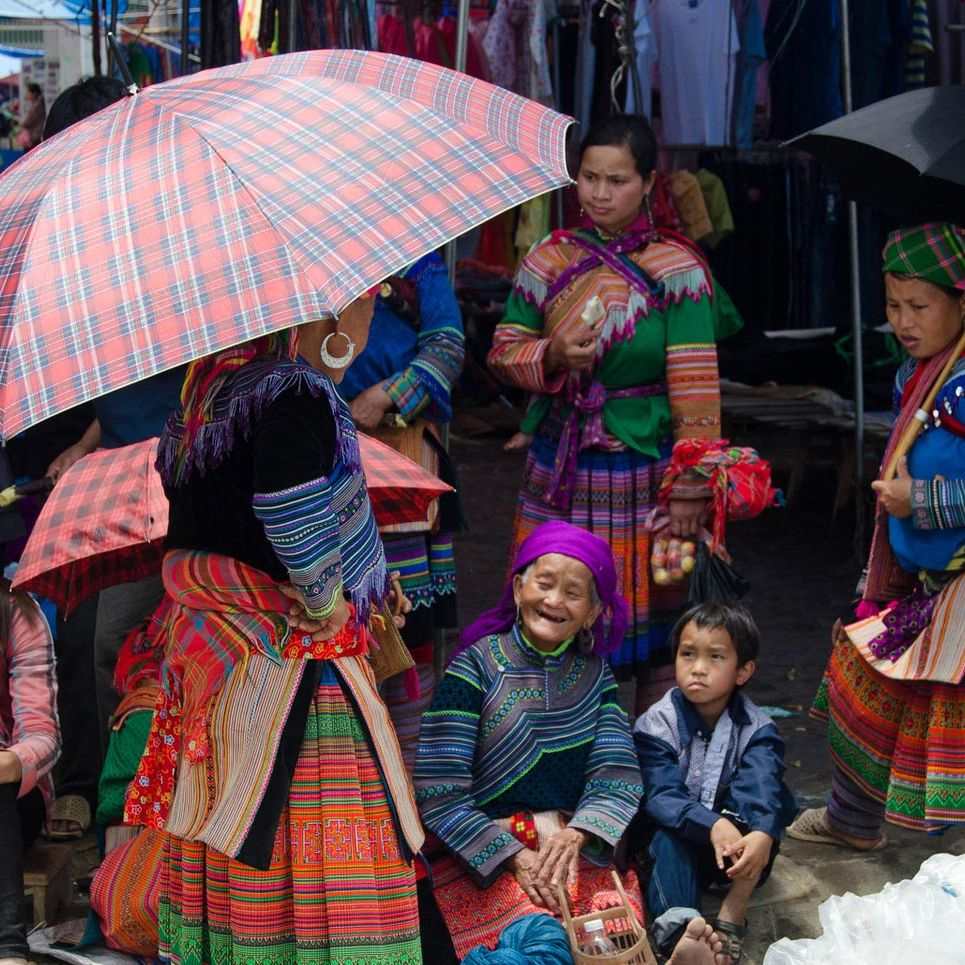 Hmong women at the Bac Ha market