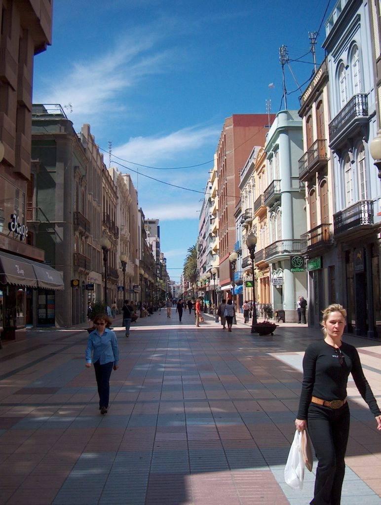 Calle Mayor de Triana, Shopping Street in Las Palmas, Gran Canaria