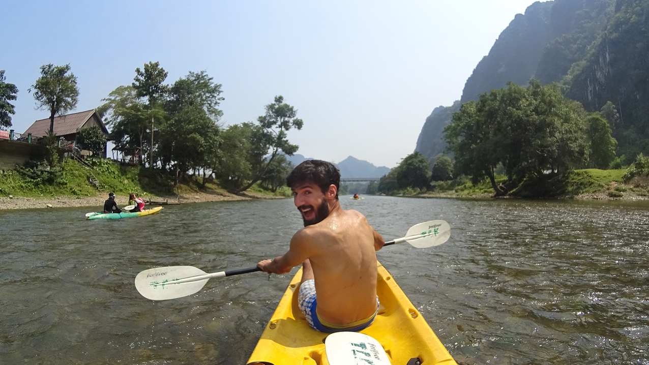 Nam Song river kayaking