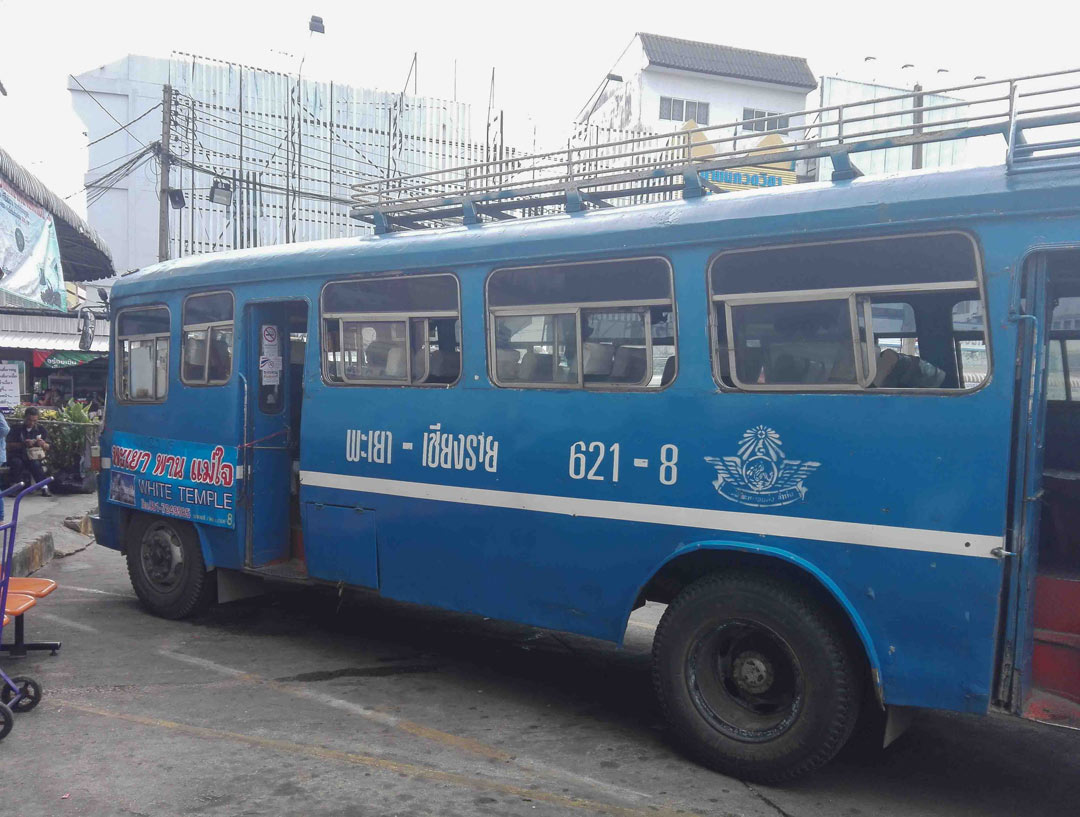 Public bus to White Temple