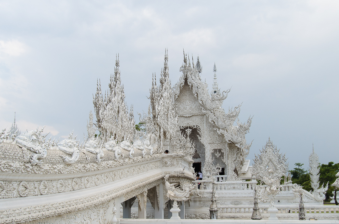 White temple bridge details