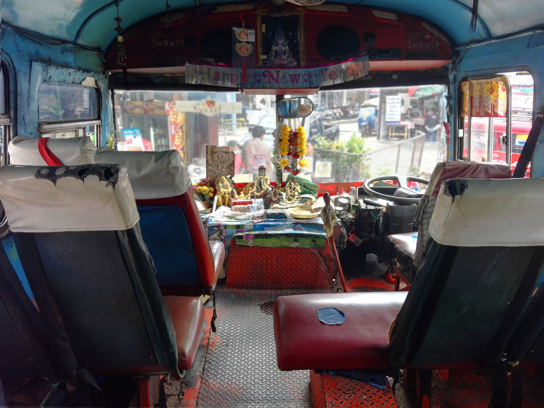 Old Thai bus interior