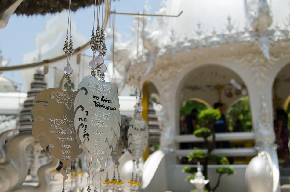 Prayer plates at Wat Rong Khun