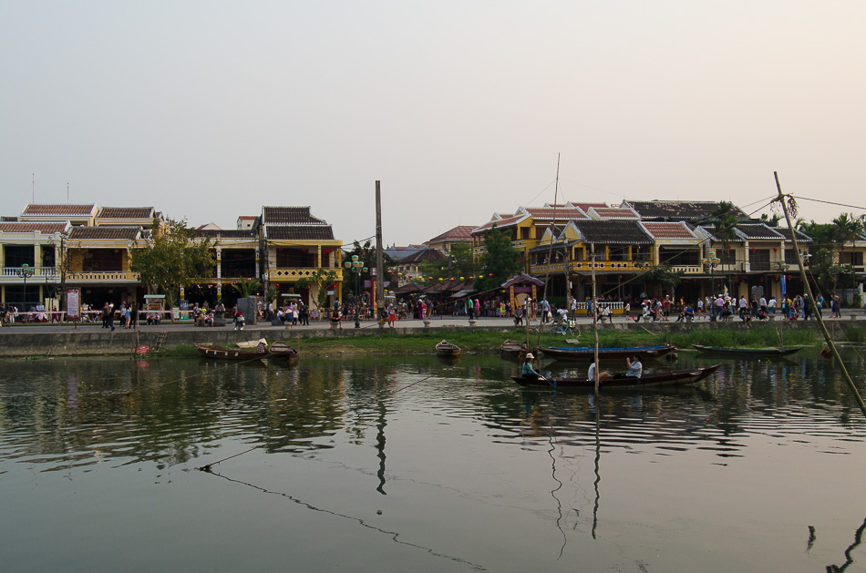 Thu Bon River in Hoi An Vietnam