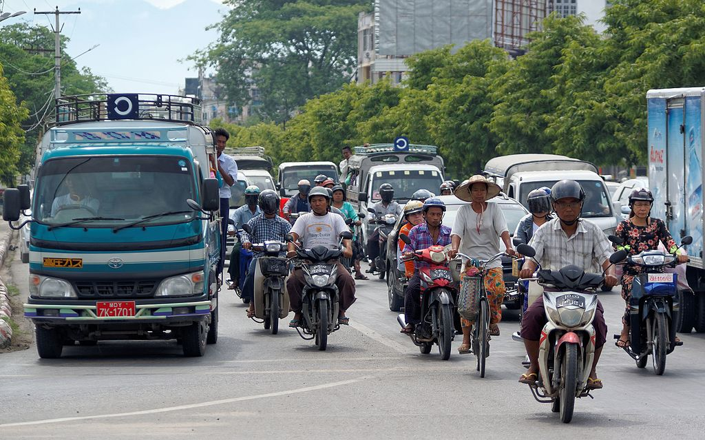 Traffic in Myanmar
