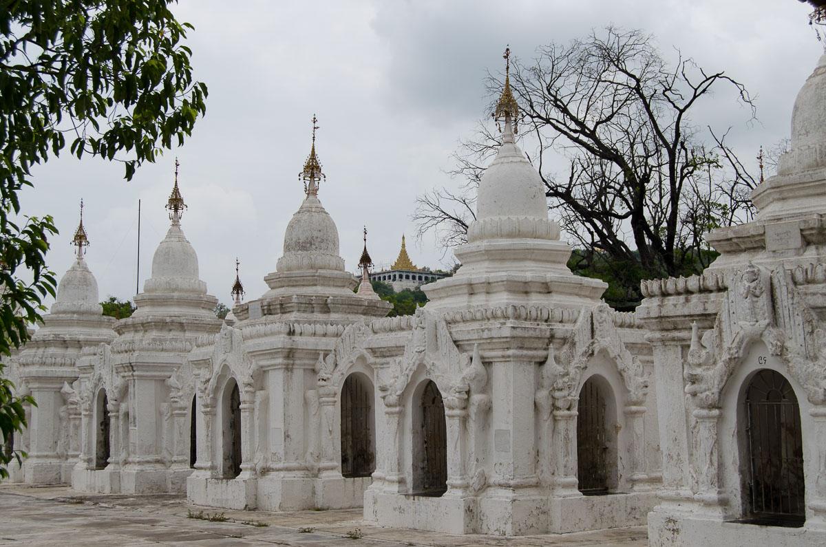 Kuthodaw Pagoda white altars