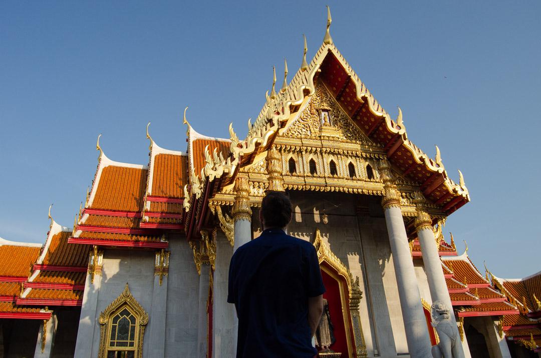 Mario at the Marble Temple in Bangkok