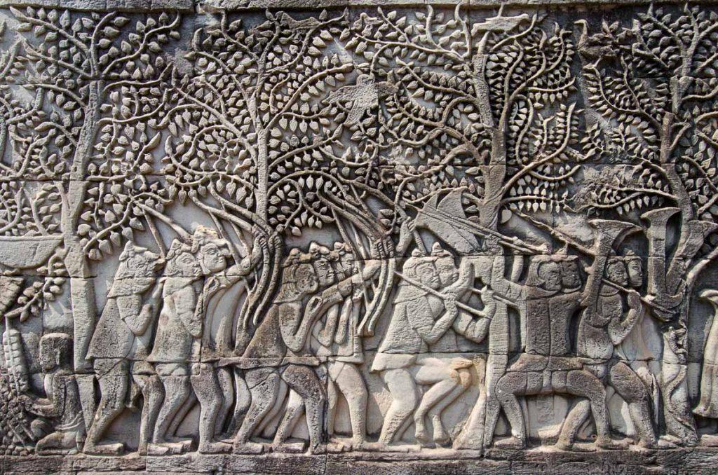 Bas-relief in Bayon temple