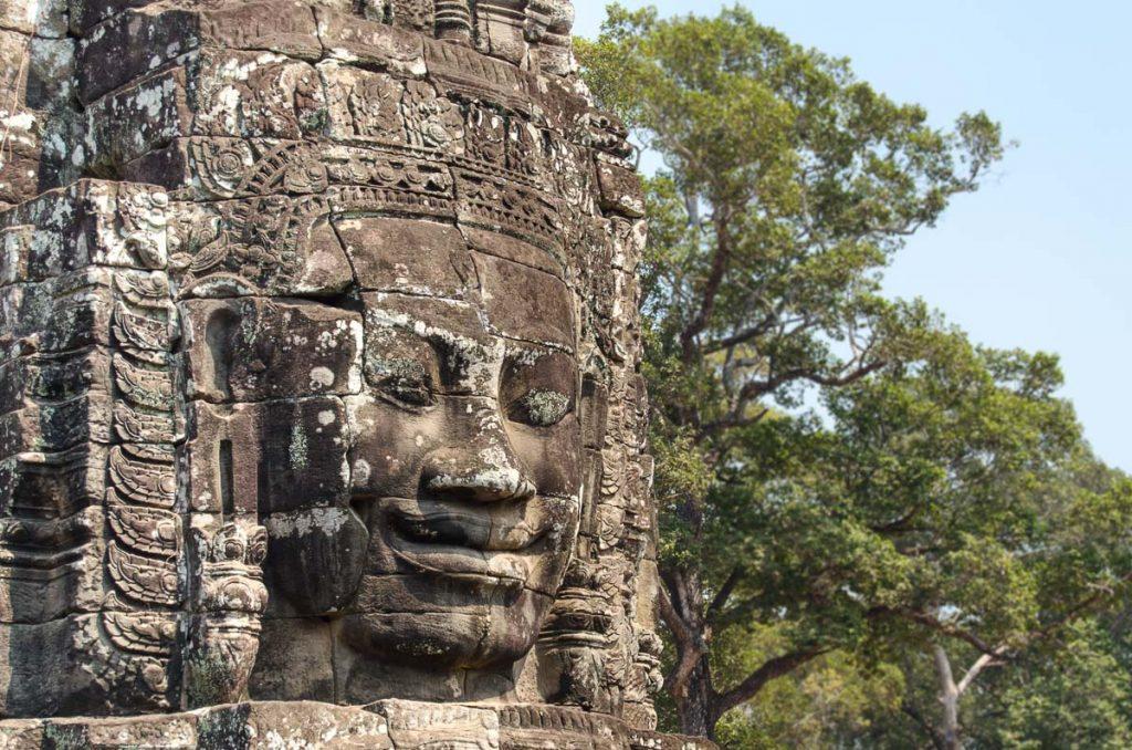 Sculpted face at Bayon Temple
