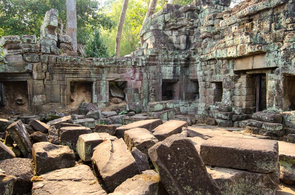 Ruins of a temple in Angkor Archaeological Park