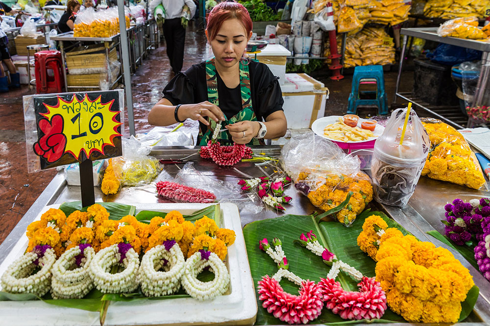 Bangkok Flower market Pak Klong Talad